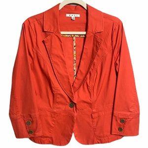 Cabi Toss On Jacket Geranium Red Poppy